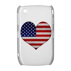 Grunge Heart Shape G8 Flags BlackBerry Curve 8520 9300 Hardshell Case