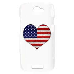 Grunge Heart Shape G8 Flags HTC One S Hardshell Case