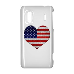 Grunge Heart Shape G8 Flags HTC Evo Design 4G/ Hero S Hardshell Case