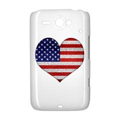 Grunge Heart Shape G8 Flags HTC ChaCha / HTC Status Hardshell Case