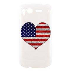 Grunge Heart Shape G8 Flags HTC Desire S Hardshell Case