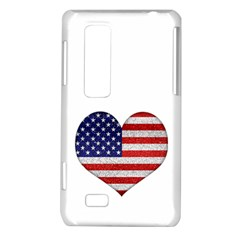 Grunge Heart Shape G8 Flags LG Optimus 3D P920 / Thrill 4G P925 Hardshell Case