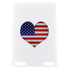 Grunge Heart Shape G8 Flags Kindle Touch 3G Hardshell Case