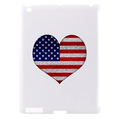 Grunge Heart Shape G8 Flags Apple iPad 3/4 Hardshell Case (Compatible with Smart Cover)