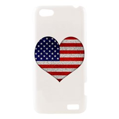 Grunge Heart Shape G8 Flags HTC One V Hardshell Case