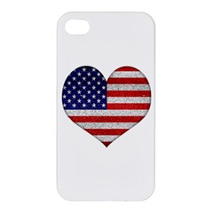 Grunge Heart Shape G8 Flags Apple Iphone 4/4s Premium Hardshell Case