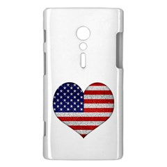 Grunge Heart Shape G8 Flags Sony Xperia ion Hardshell Case