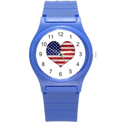 Grunge Heart Shape G8 Flags Plastic Sport Watch (Small)