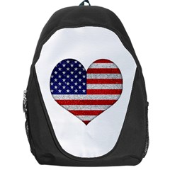 Grunge Heart Shape G8 Flags Backpack Bag