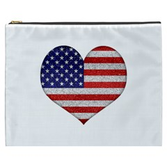 Grunge Heart Shape G8 Flags Cosmetic Bag (XXXL)