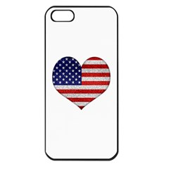 Grunge Heart Shape G8 Flags Apple iPhone 5 Seamless Case (Black)