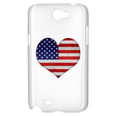 Grunge Heart Shape G8 Flags Samsung Galaxy Note 2 Hardshell Case