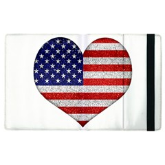 Grunge Heart Shape G8 Flags Apple Ipad 2 Flip Case