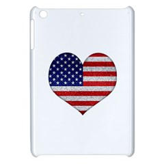Grunge Heart Shape G8 Flags Apple iPad Mini Hardshell Case