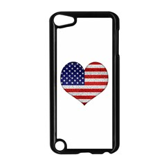 Grunge Heart Shape G8 Flags Apple iPod Touch 5 Case (Black)