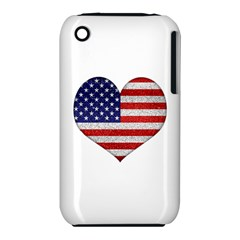 Grunge Heart Shape G8 Flags Apple iPhone 3G/3GS Hardshell Case (PC+Silicone)