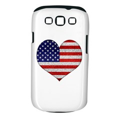 Grunge Heart Shape G8 Flags Samsung Galaxy S III Classic Hardshell Case (PC+Silicone)