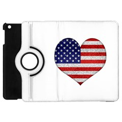 Grunge Heart Shape G8 Flags Apple iPad Mini Flip 360 Case