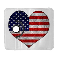 Grunge Heart Shape G8 Flags Samsung Galaxy S  III Flip 360 Case
