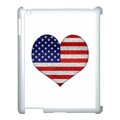 Grunge Heart Shape G8 Flags Apple Ipad 3/4 Case (white)