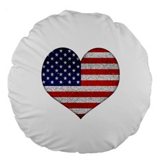 Grunge Heart Shape G8 Flags 18  Premium Round Cushion