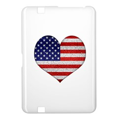 Grunge Heart Shape G8 Flags Kindle Fire Hd 8 9  Hardshell Case