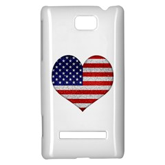Grunge Heart Shape G8 Flags HTC 8S Hardshell Case