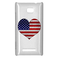 Grunge Heart Shape G8 Flags HTC 8X Hardshell Case