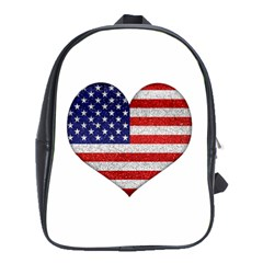 Grunge Heart Shape G8 Flags School Bag (XL)