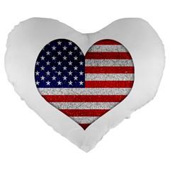 Grunge Heart Shape G8 Flags 19  Premium Heart Shape Cushion