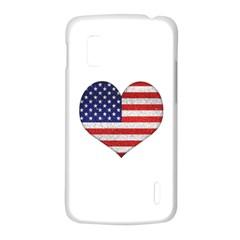 Grunge Heart Shape G8 Flags Google Nexus 4 (LG E960) Hardshell Case