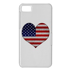 Grunge Heart Shape G8 Flags BlackBerry Z10 Hardshell Case