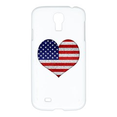 Grunge Heart Shape G8 Flags Samsung Galaxy S4 I9500/I9505 Hardshell Case