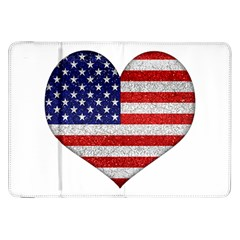 Grunge Heart Shape G8 Flags Samsung Galaxy Tab 8 9  P7300 Flip Case