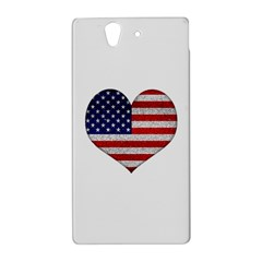 Grunge Heart Shape G8 Flags Sony Xperia Z (L36H) Hardshell Case