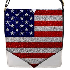 Grunge Heart Shape G8 Flags Flap Closure Messenger Bag (Small)