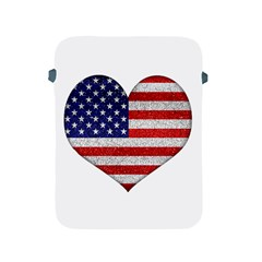 Grunge Heart Shape G8 Flags Apple Ipad Protective Sleeve