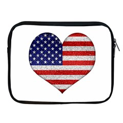 Grunge Heart Shape G8 Flags Apple iPad Zippered Sleeve