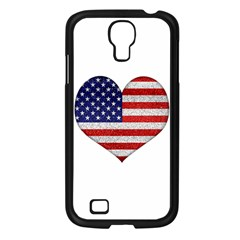 Grunge Heart Shape G8 Flags Samsung Galaxy S4 I9500/ I9505 Case (Black)