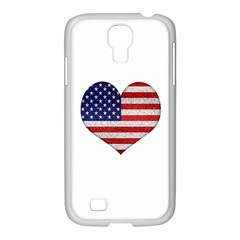 Grunge Heart Shape G8 Flags Samsung GALAXY S4 I9500/ I9505 Case (White)