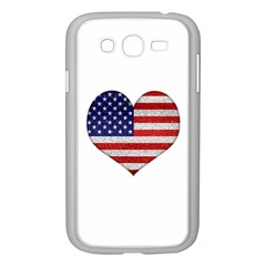 Grunge Heart Shape G8 Flags Samsung Galaxy Grand DUOS I9082 Case (White)