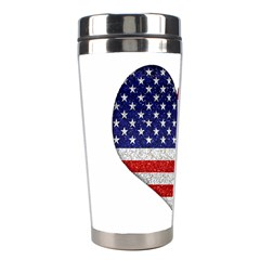Grunge Heart Shape G8 Flags Stainless Steel Travel Tumbler