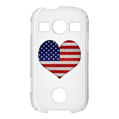Grunge Heart Shape G8 Flags Samsung Galaxy S7710 Xcover 2 Hardshell Case