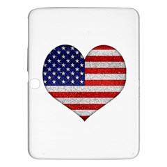 Grunge Heart Shape G8 Flags Samsung Galaxy Tab 3 (10.1 ) P5200 Hardshell Case