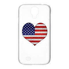 Grunge Heart Shape G8 Flags Samsung Galaxy S4 Classic Hardshell Case (PC+Silicone)
