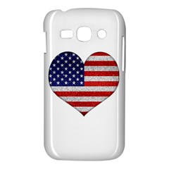 Grunge Heart Shape G8 Flags Samsung Galaxy Ace 3 S7272 Hardshell Case