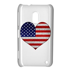 Grunge Heart Shape G8 Flags Nokia Lumia 620 Hardshell Case