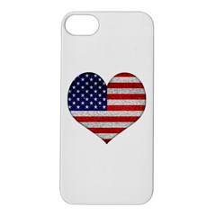Grunge Heart Shape G8 Flags Apple iPhone 5S Hardshell Case