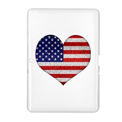 Grunge Heart Shape G8 Flags Samsung Galaxy Tab 2 (10.1 ) P5100 Hardshell Case