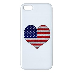 Grunge Heart Shape G8 Flags Iphone 5s Premium Hardshell Case
